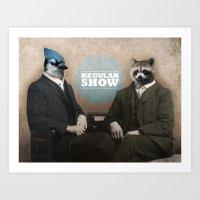 Mordecai & Rigby Art Print