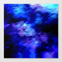 Anemone Wave Pixel Canvas Print