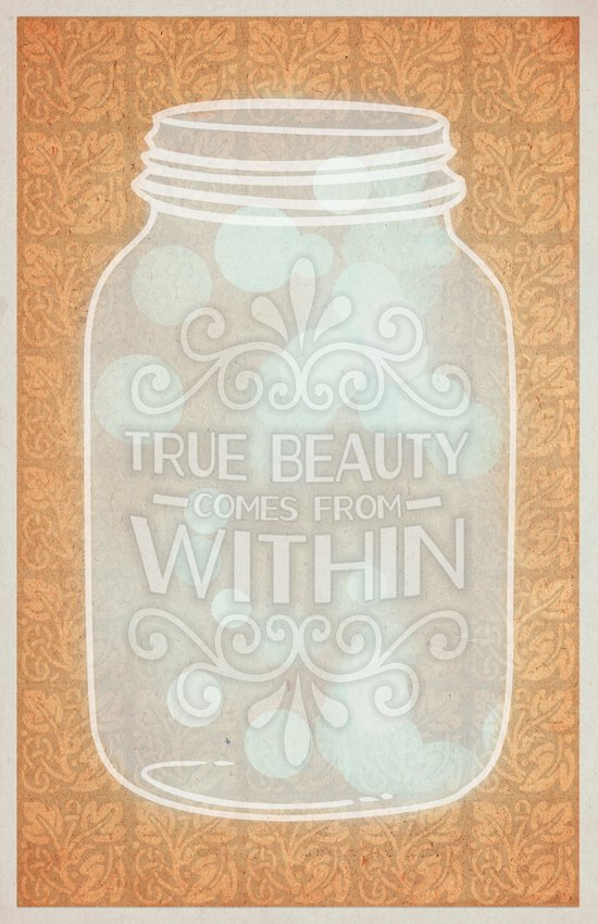 True beauty comes from within Art Print