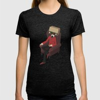 Radiohead Womens Fitted Tee Tri-Black SMALL
