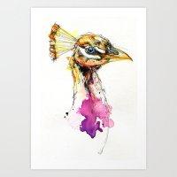Sunset Peacock Art Print