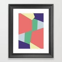 Mysterious Shapes Framed Art Print