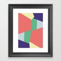 Mysterious Shapes Framed Art Print
