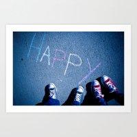H A P P Y Art Print