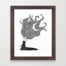 Moon Hair Framed Art Print