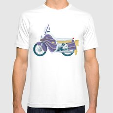 Batgirl's bike Mens Fitted Tee White SMALL
