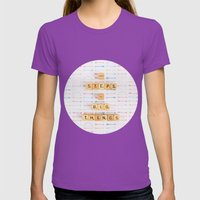 Small Steps To Big Thing… Womens Fitted Tee Ultraviolet SMALL