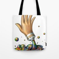 Hand of Color Tote Bag