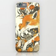 iPhone & iPod Case featuring Fox In Foliage by Teagan White