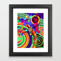 Spirals and Dots Framed Art Print