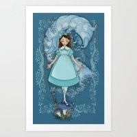 Alice And The Caterpilla… Art Print