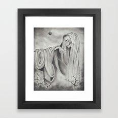 Black Blood Moon Framed Art Print