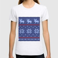 Winter Lovers Christmas Womens Fitted Tee Ash Grey SMALL