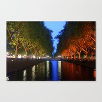 Colorful Canal Canvas Print