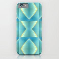 Green Blue Metallic Geometric Pattern iPhone 6 Slim Case