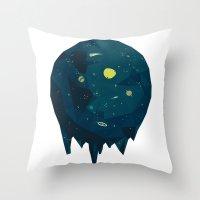 Geometric Space Throw Pillow