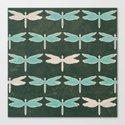 Dragonfly pattern v1 Canvas Print
