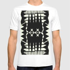 Microcosm SMALL White Mens Fitted Tee