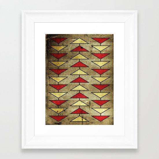 Navajo Arrows Framed Art Print