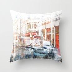 London Cars Throw Pillow