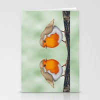 Knitted Robin Stationery Cards