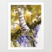 Bluebell Wood, Bluebells… Art Print