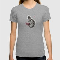 Zombie Squirrel Womens Fitted Tee Tri-Grey SMALL