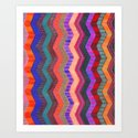 PATTERN {Chevron 003} Art Print