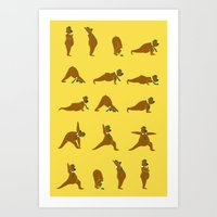 Yoga Bear - Classic Art Print