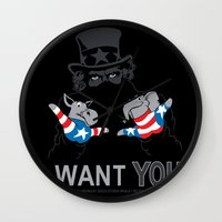 Uncle Scam Wall Clock