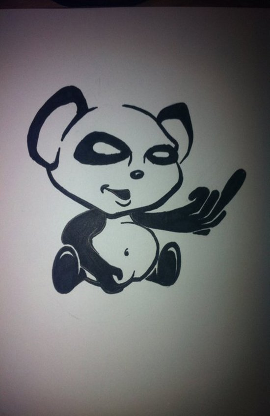Panda With Attitude Art Print