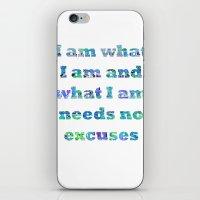 I Am What I Am iPhone & iPod Skin