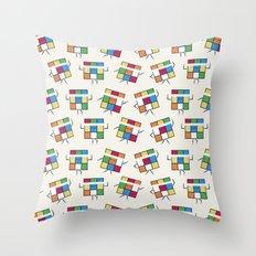 Aerubiks Throw Pillow