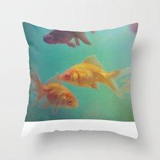 Three Fish More fish Throw Pillow