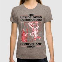The Upside Down Demogorgon - Stranger Things Have Happened Womens Fitted Tee Tri-Coffee SMALL