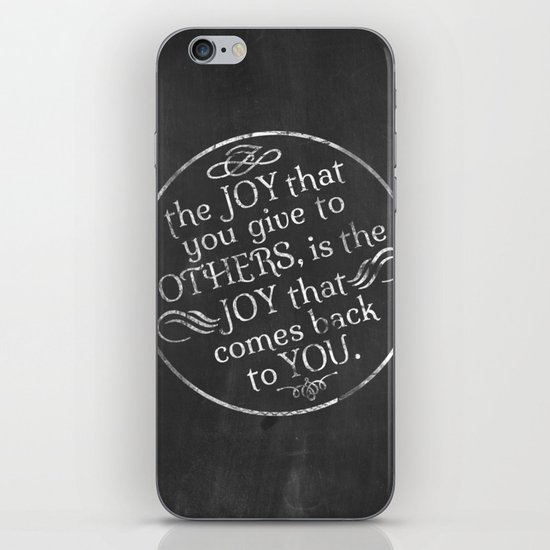Give Joy  iPhone & iPod Skin