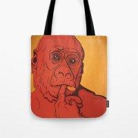 Warm Gorilla Tote Bag