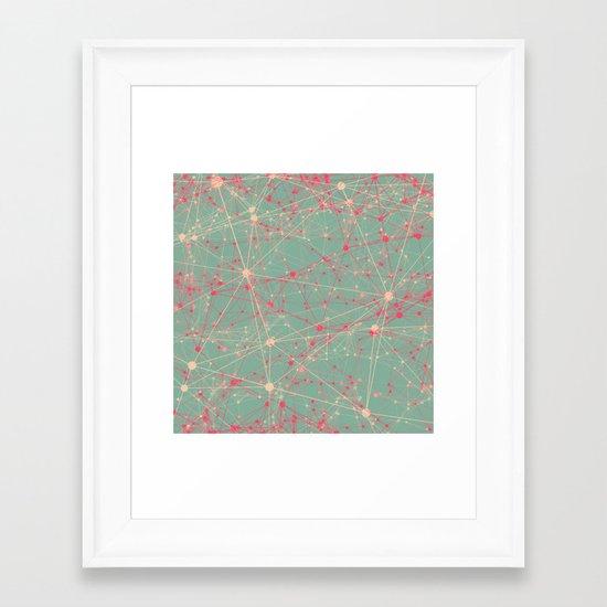 LINK abstract I Framed Art Print