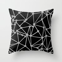 Abstract Heart Zoom Black Throw Pillow