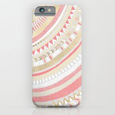 Coral + Gold Tribal iPhone 6 Slim Case