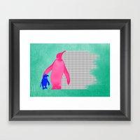 Pinkuin - Mom And Son Framed Art Print