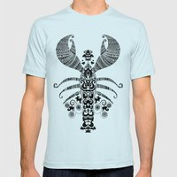 17th Century Lobster Mens Fitted Tee Light Blue SMALL