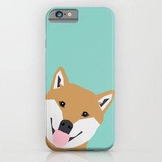 Shiba Inu Peek - Cute Sh… iPhone 6 Slim Case