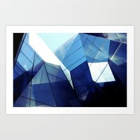 Diamond Glasses Art Print