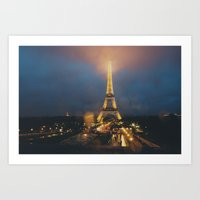 all lit up ... Art Print