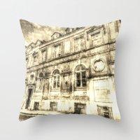 Victorian London Vintage Throw Pillow