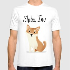 Shiba Inu - Cute Dog Series Mens Fitted Tee SMALL White