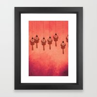 Earrings Framed Art Print