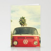 vw Stationery Cards featuring VW Coastin' by RichCaspian