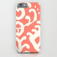 Ikat in coral  iPhone 6 Slim Case